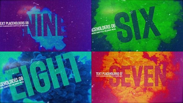 Ink Countdown Edit Text Change Colour And Grunge - After effects template editing