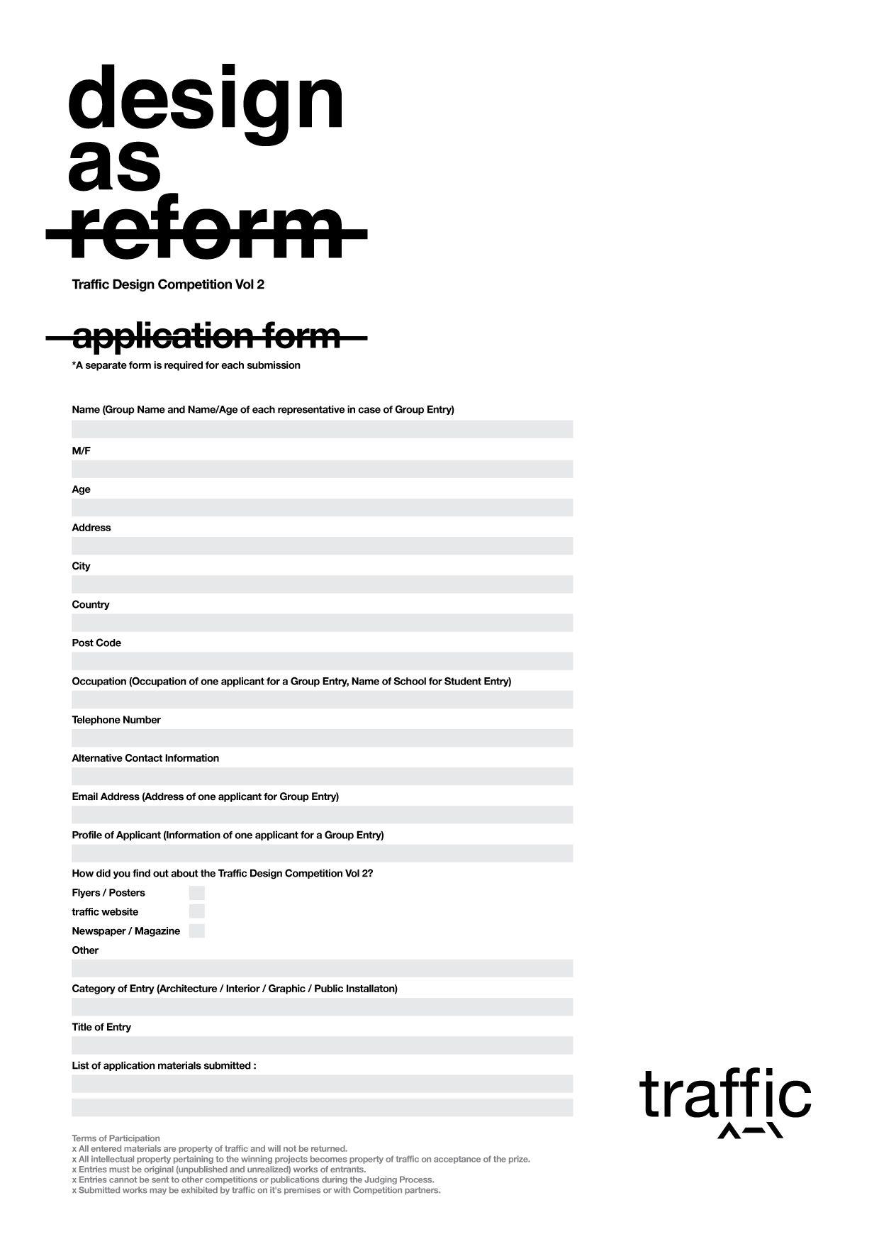 Traffic Design Petition Vol Reform | Forms | Pinterest