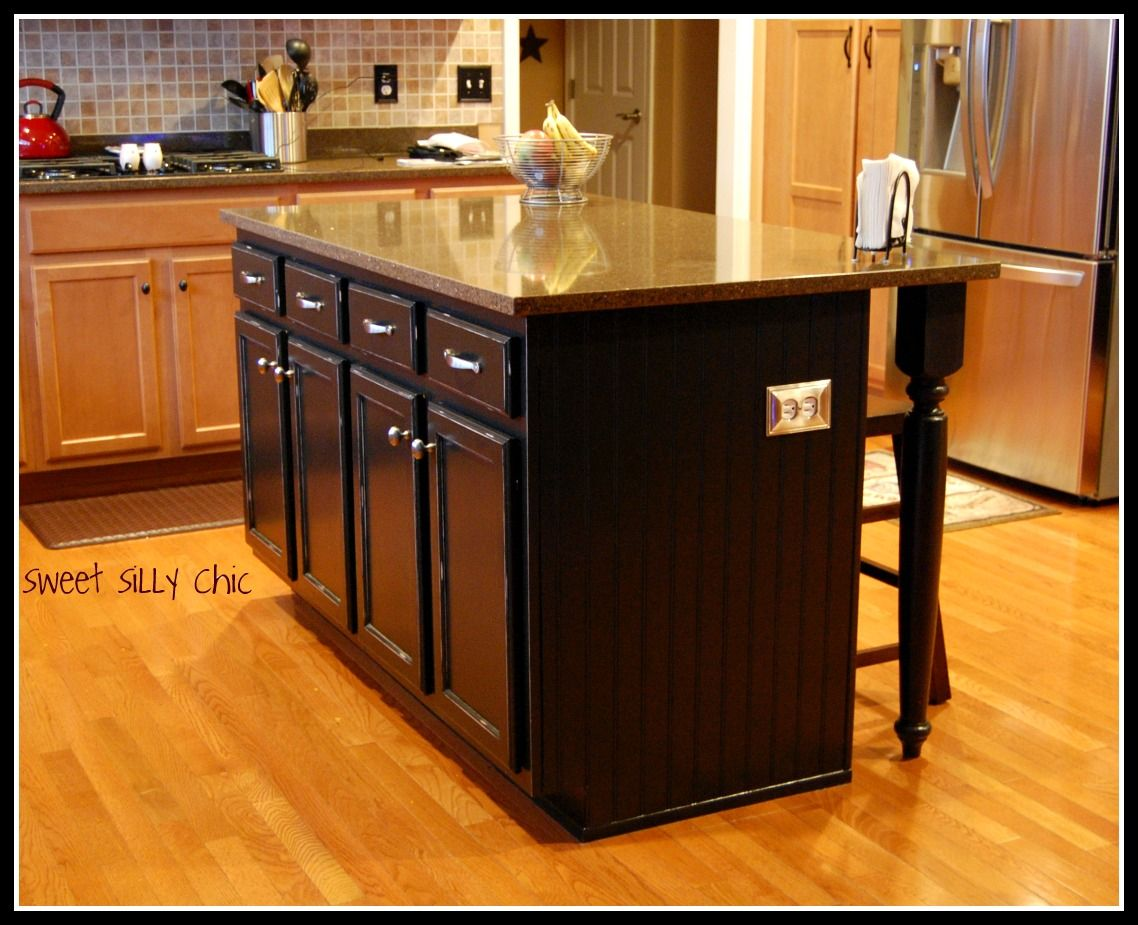 diy kitchen island | DIY Kitchen Island Update | Sweet Silly Chic