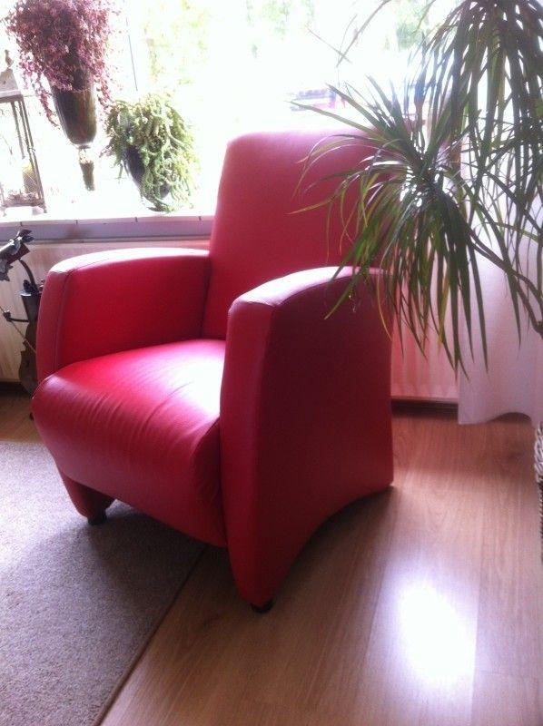 Huis En Inrichting Fauteuils.Fauteuil Rood Kunstleer Aangeboden In Stoelen Fauteuils En