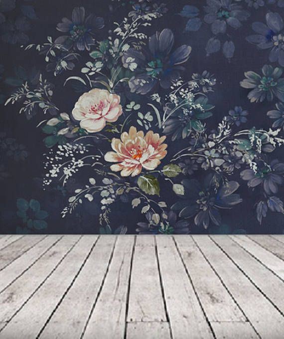 Peel And Stick Wallpaper Floral Large Floral Wallpaper Dark Etsy Large Floral Wallpaper Vintage Floral Wallpapers Floral Wallpaper