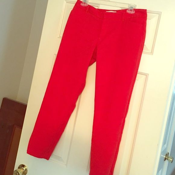 Gap: Slim Cropped Red Stretch Ankle Pant Bright colors are in this summer! ❤️ Good condition, red, slim, cropped dress pants. GAP Pants Ankle & Cropped
