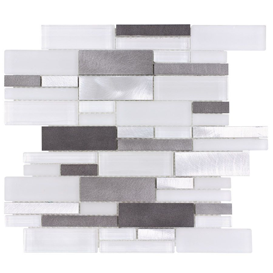 Aluminum Glass Tile Backsplash Ice Blend For Kitchen Backsplash