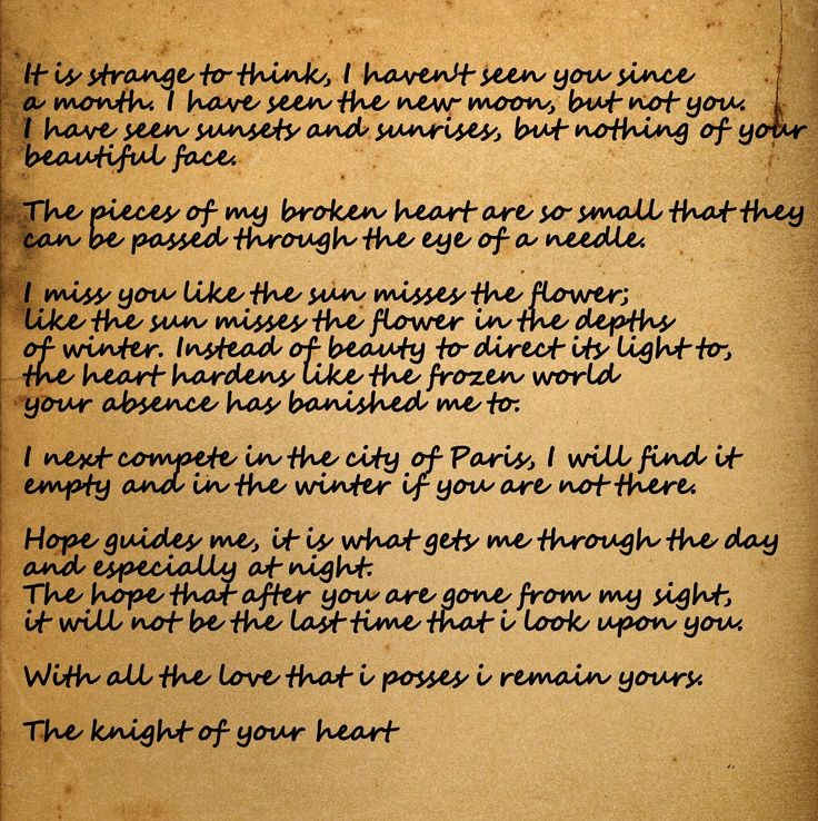 A KnightS Tale Love Letter  It Makes Me Think Of You Whitney