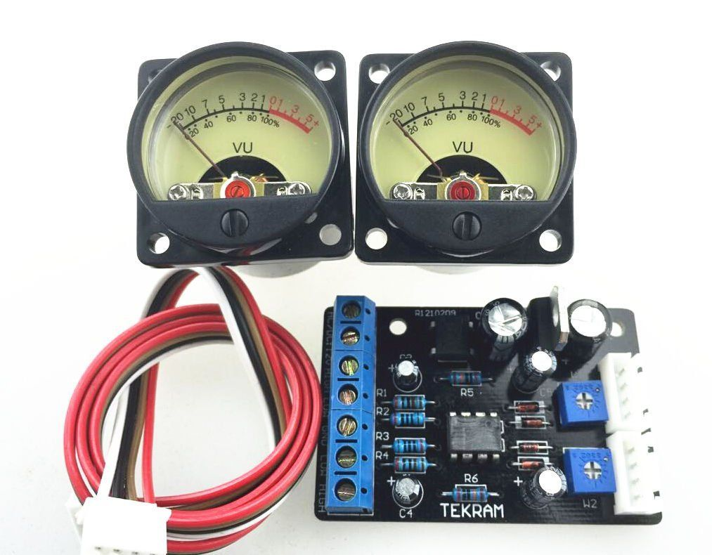 Dual Channel Analog Audio Vu Meter Kit With Driver Board Channels Subwoofer Stereo Power Amplifier Diy Circuit Nobsoundaudio Panel Db Level Led Header Module