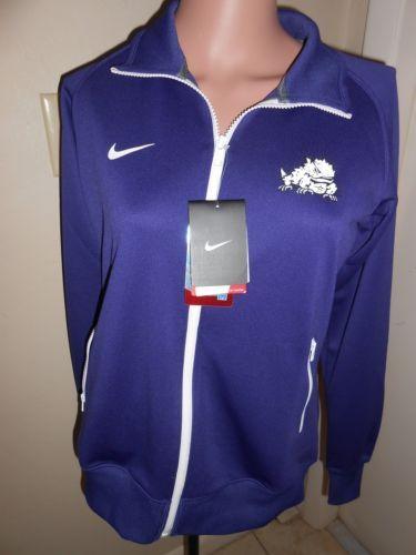 NWT-TCU-Texas-Christian-University-Womens-M-Purple-Nike-Dri-Fit-Track-Jacket