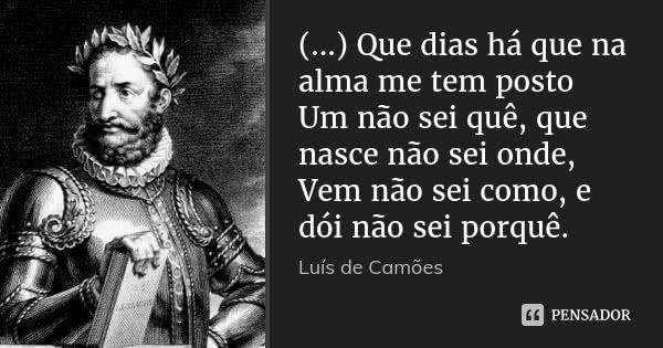 Luis De Camoes Com Imagens Poemas De Camoes Citacoes