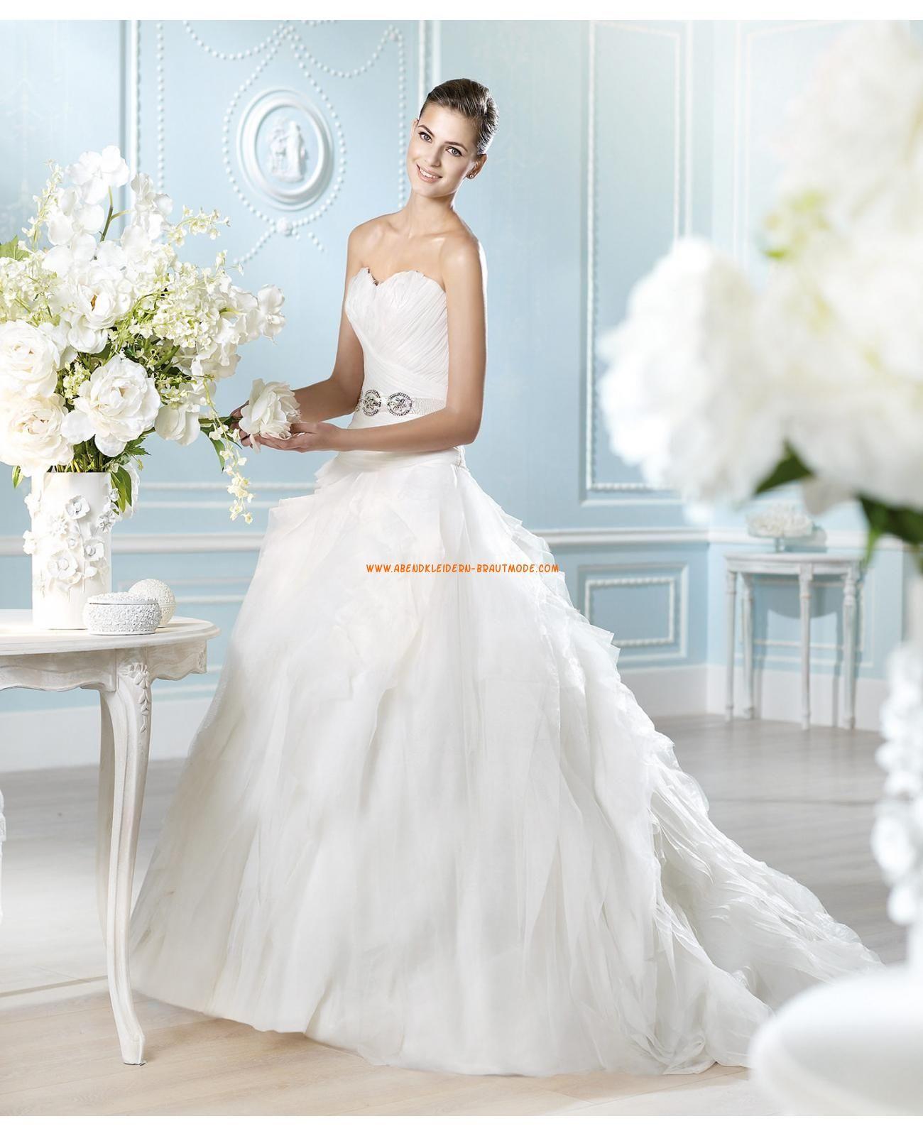 2014 Moderne elegante Brautkleider aus Satin und Organza mit