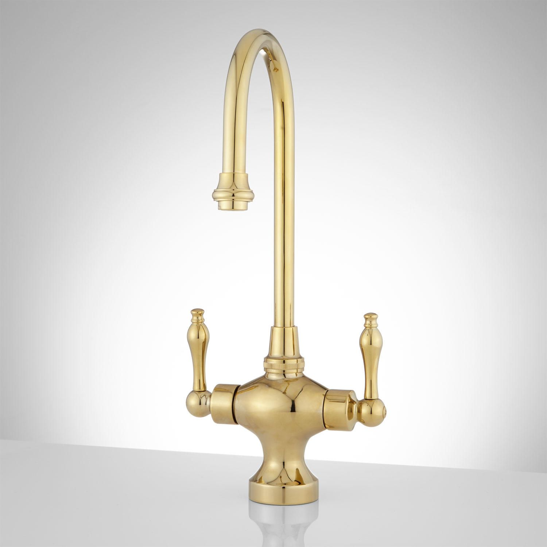 Isadora Single Hole Bar And Kitchen Faucet Polished Brass Brass Kitchen Faucet Kitchen Faucet Antique Brass Kitchen Faucet