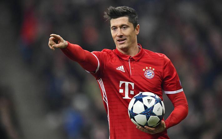 Download Wallpapers Robert Lewandowski 4k Bayern Munich
