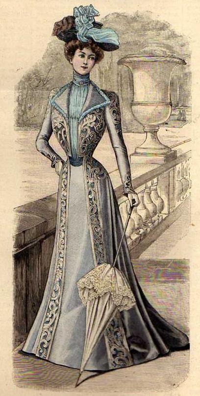 Modezeichnungen, Alte Kleider