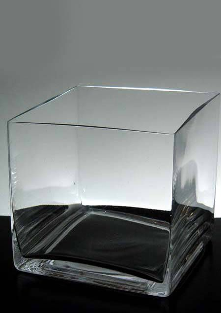 Square Vases Clear Glass 5x5 Squares Glass And Floating Candles