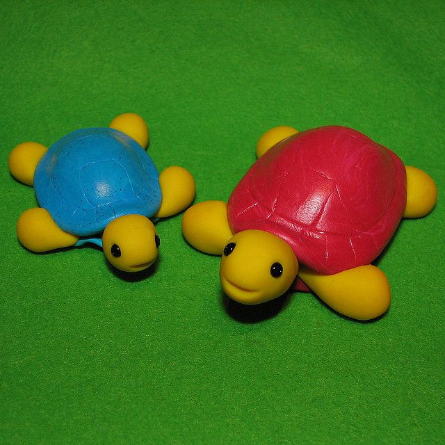 turtles - fimo sculpey polymer clay
