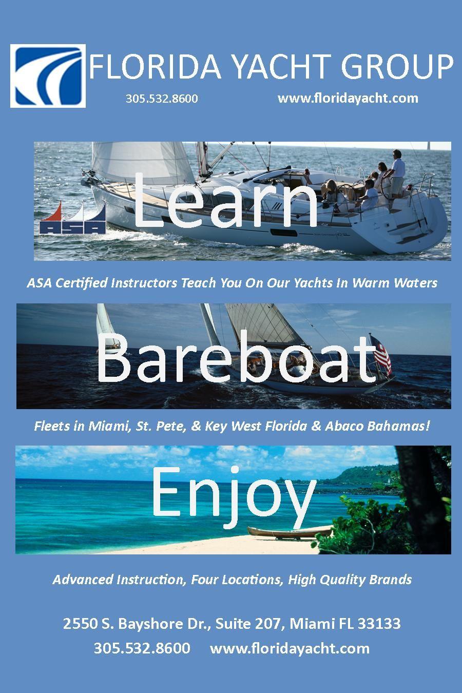 Florida Yacht Offeres Asa Courses Year Round Asa Sailing School
