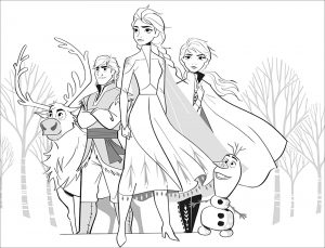 Free Printable Full Size Frozen 2 Coloring Pages Disney Frozen Coloring Pages Lovebugs And Postcard In 2020 Elsa Coloring Pages Frozen Coloring Pages Frozen Coloring
