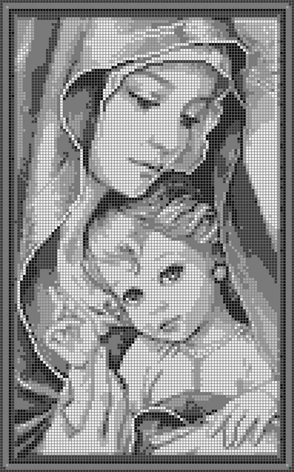 Madonnina punto croce madonnina punto croce pinterest for Punto croce immagini