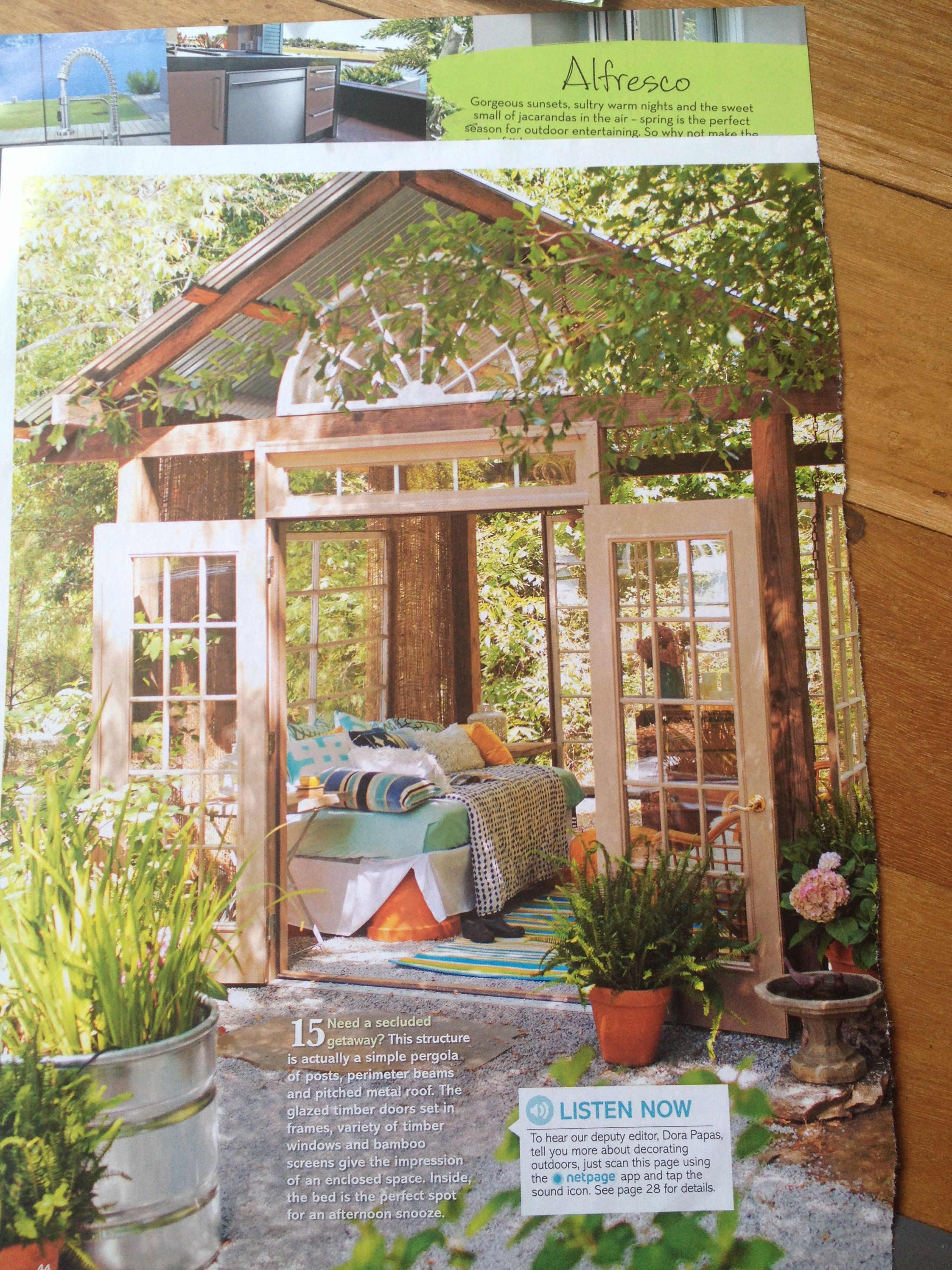 Omg outdoor room with daybed (With images) | Outdoor rooms ... on Living Spaces Outdoor Daybed id=21074
