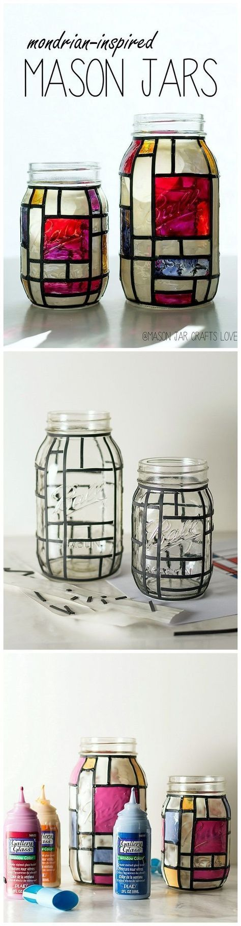 15 Awesome DIY Projects That You Can Make and Sell | Mondrian, Jar ...