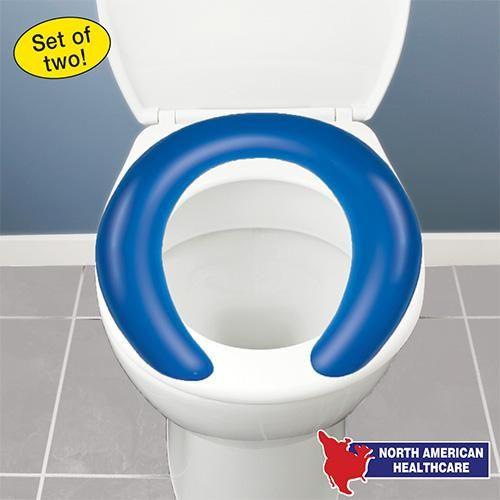 Surprising Blue Gel Toilet Cushion Set Of 2 Better Senior Living Pdpeps Interior Chair Design Pdpepsorg