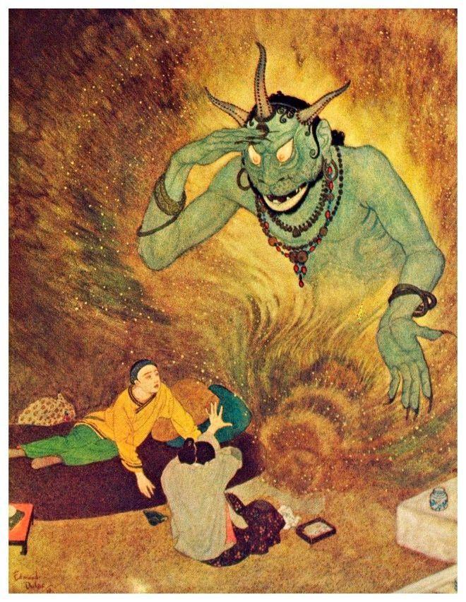 Las Mil y Una Noches con ilustraciones de  Edmund Dulac #Morla #FigurasDeBronce