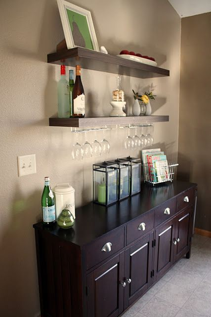 Inspirational Glass Shelves for Home Bar