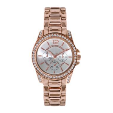 Womens Crystal Accent Mini Boyfriend Watch  found at @JCPenney love that rosy gold