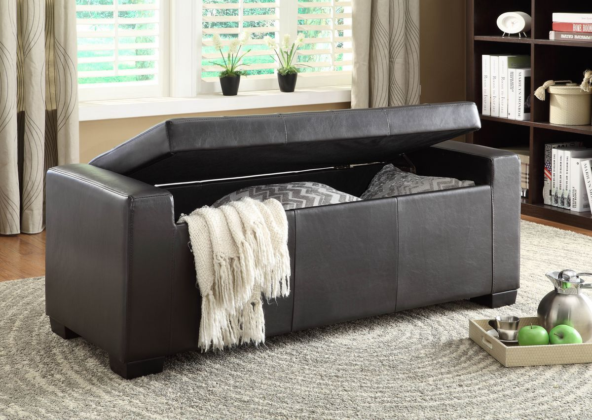 Tigard lift top storage bench pu storage benches bench and