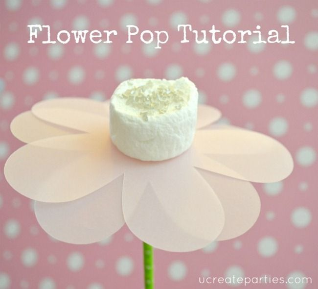 diy flower pop