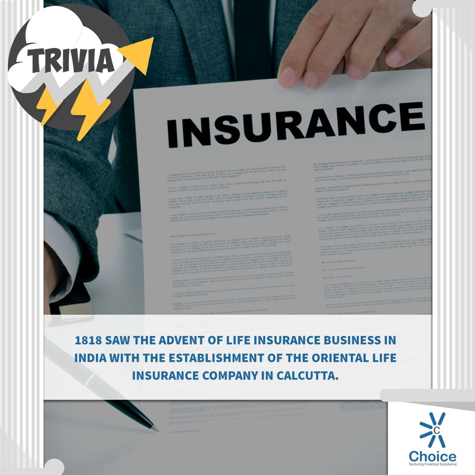 Choicebroking trivia 1818 saw the advent of life