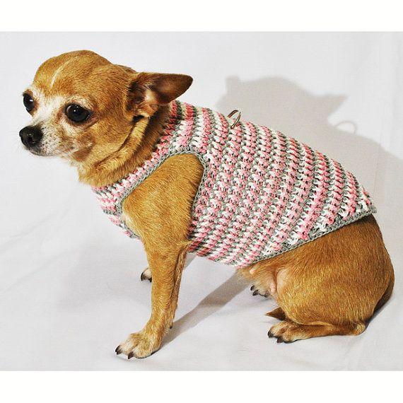 Pastel Pink Grey Dog Harness Choke Free Puppy Collar Cotton Pet