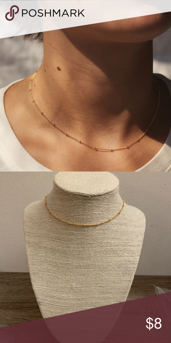 Photo of gold dainty brandy melville choker necklace! brand new choker! super simple & el…