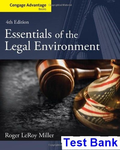 Cengage advantage books essentials of the legal environment 4th cengage advantage books essentials of the legal environment 4th edition miller test bank test bank fandeluxe Image collections