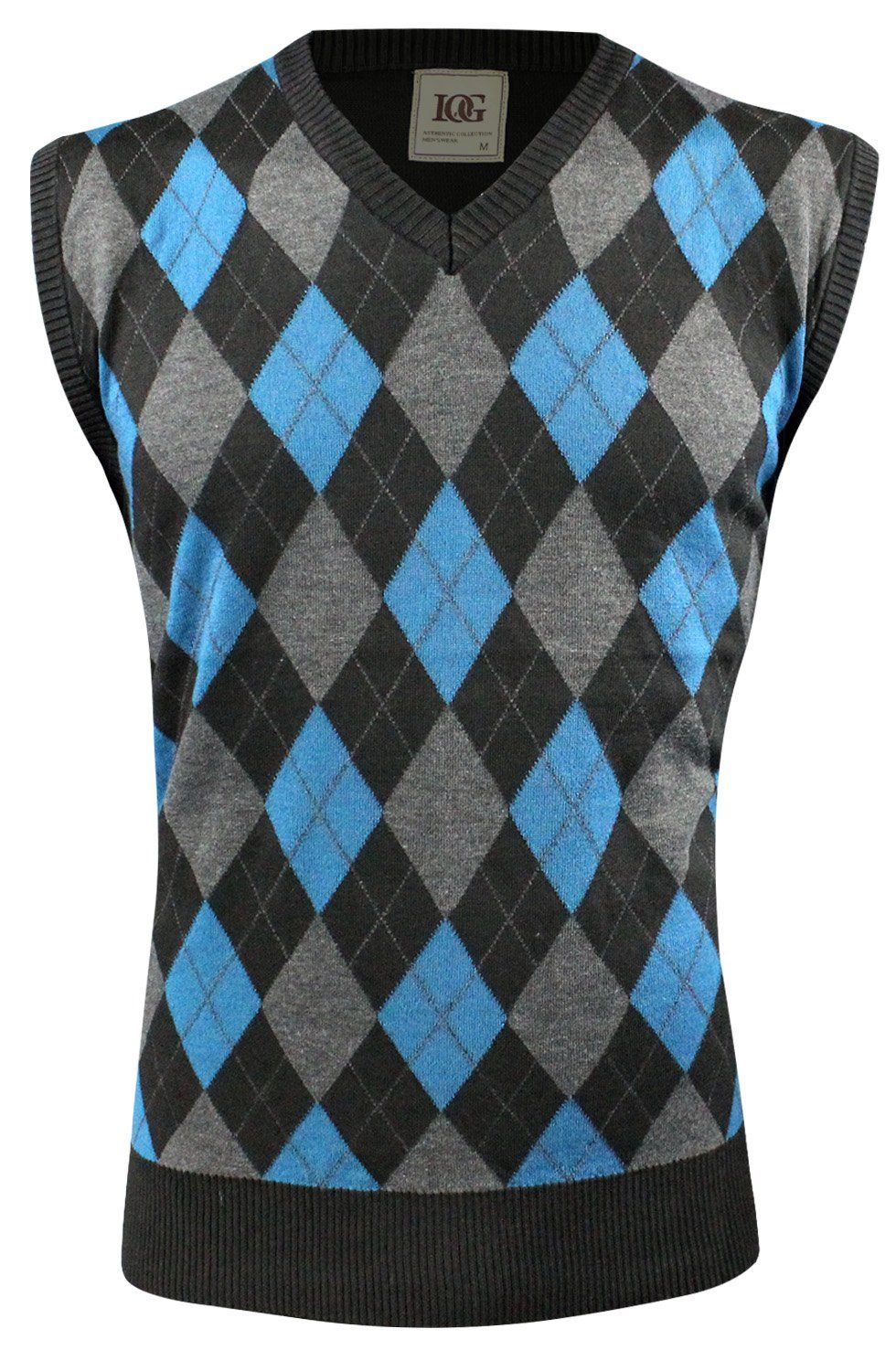 Enimay Mens Argyle V-Neck Golf Sweater Vest (Many Colors Available ...