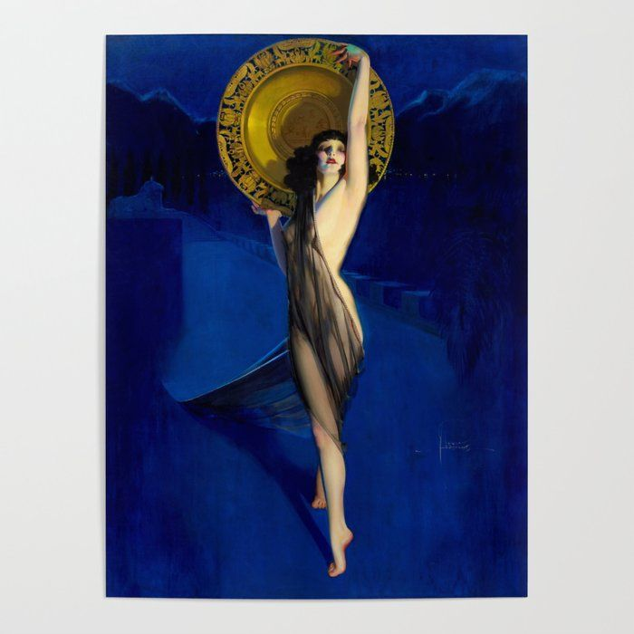 Framed Rolf Armstrong The Enchantress Giclee Canvas Print Paintings Poster