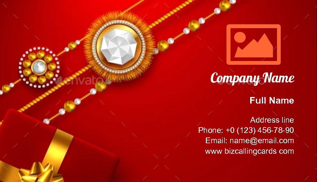 Raksha Bandhan Business Card Template