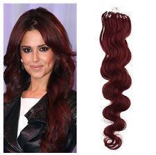 18 micro ring loop beads tipped body wavy remy human hair 18 micro ring loop beads tipped body wavy remy human hair extensions wine red pmusecretfo Choice Image