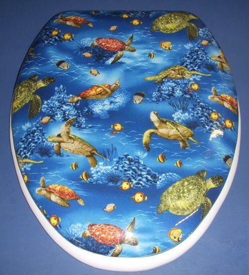 New Pattern: Turtles Cloud Soft designer padded toilet seats ...
