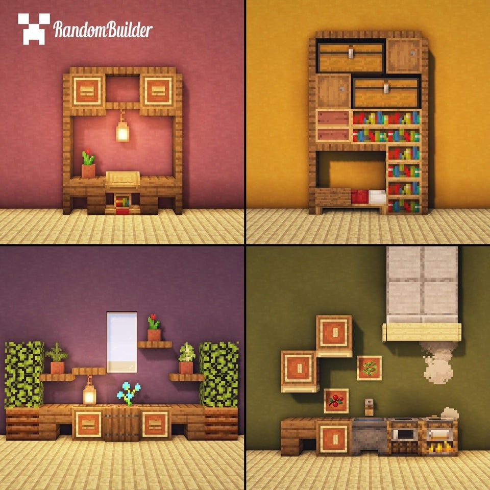 I Built Some Furniture Designs Tutorial Minecraftbuilds Minecraft Interior Design Minecraft Furniture Minecraft House Designs