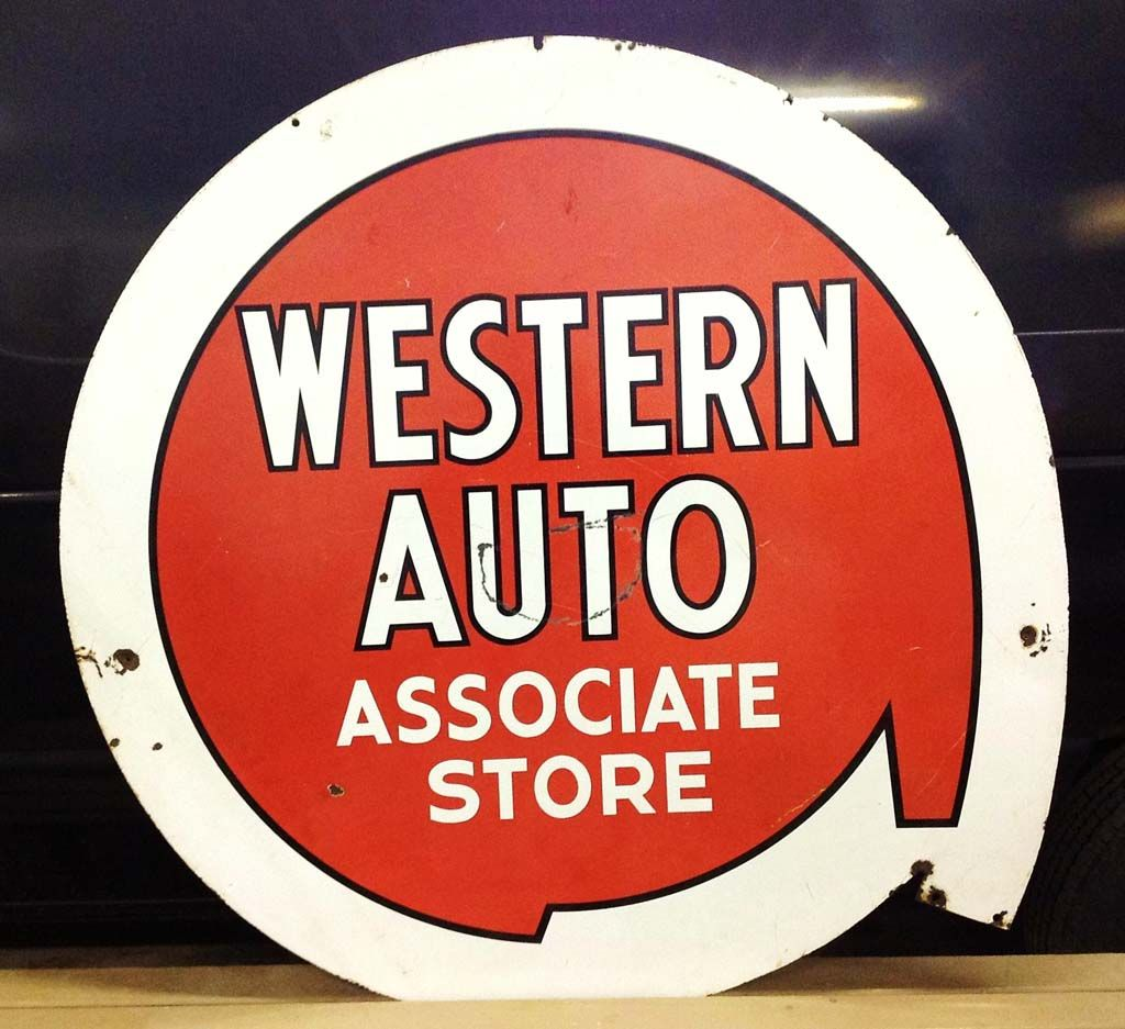Western Auto Sign- Check It Out At Vintagegallery.com