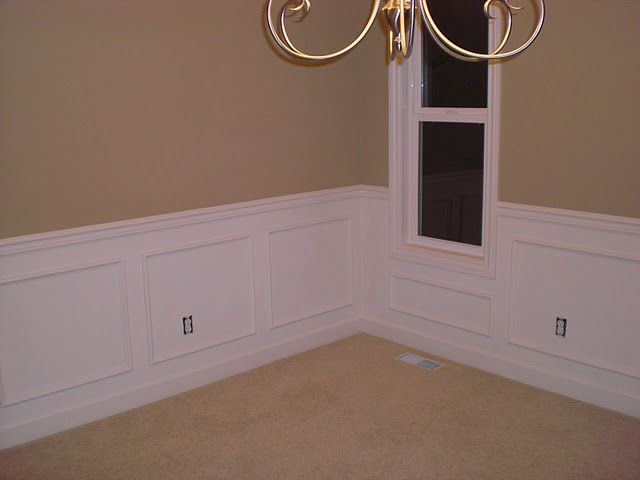 If we get the Southpointe home, we are going to do colonial wainscot