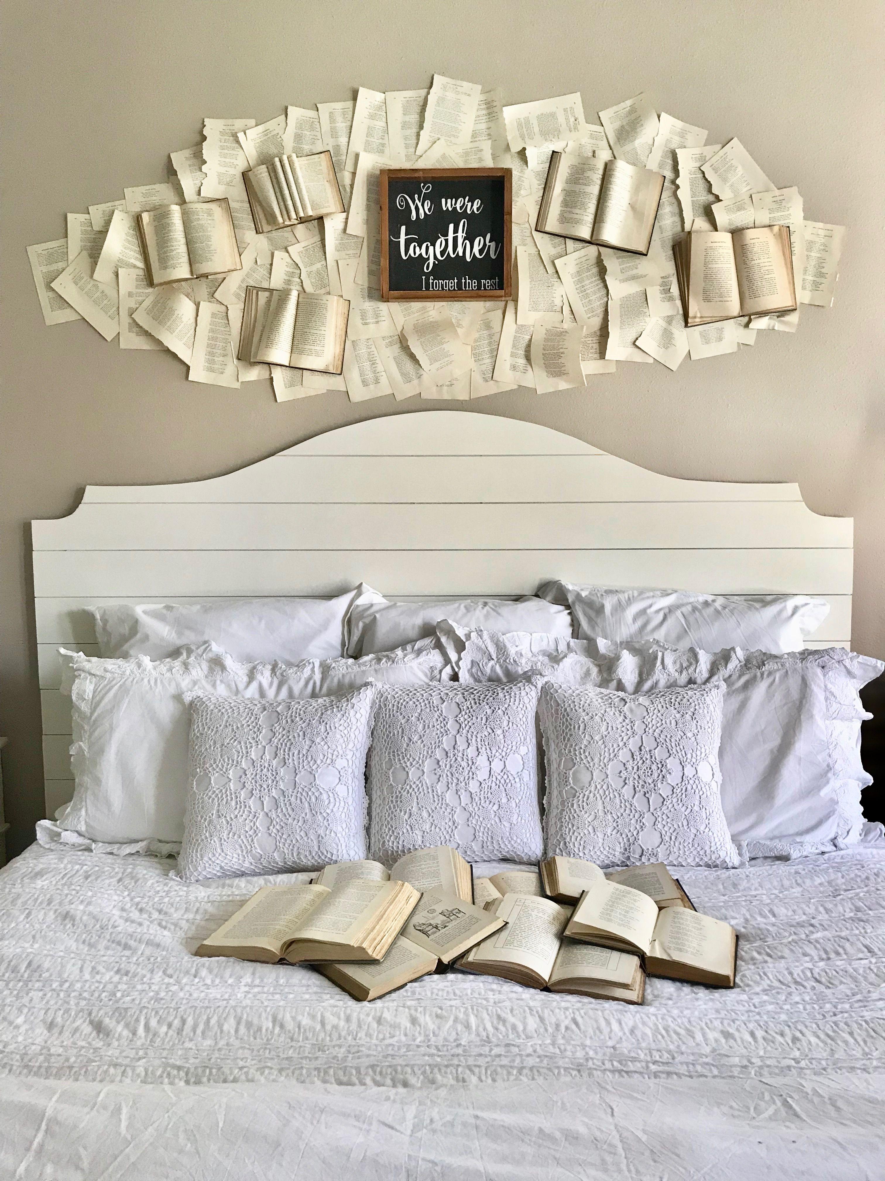 Book Wall Tutorial  Master bedroom diy, Creative bedroom, Book wall