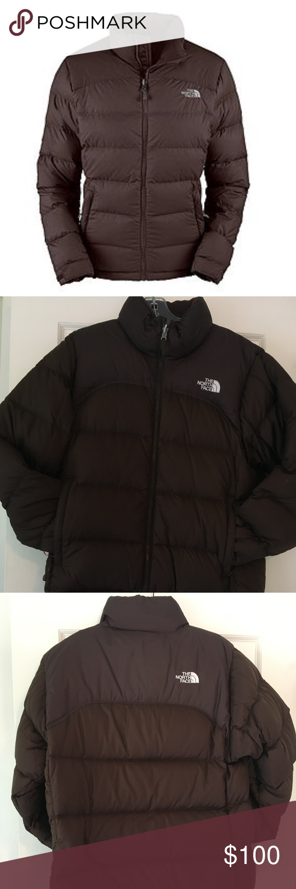 The North Face Women S Brown Nuptse Jacket North Face Women Jackets The North Face [ 1740 x 580 Pixel ]