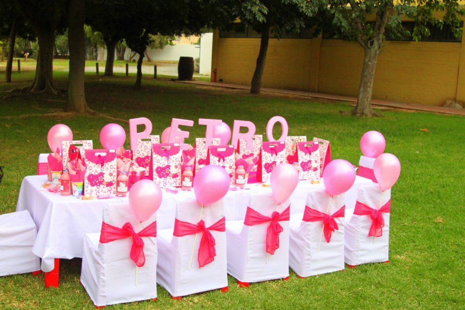 Hello Kitty Table Decorations and all kind of ideas for a birthday