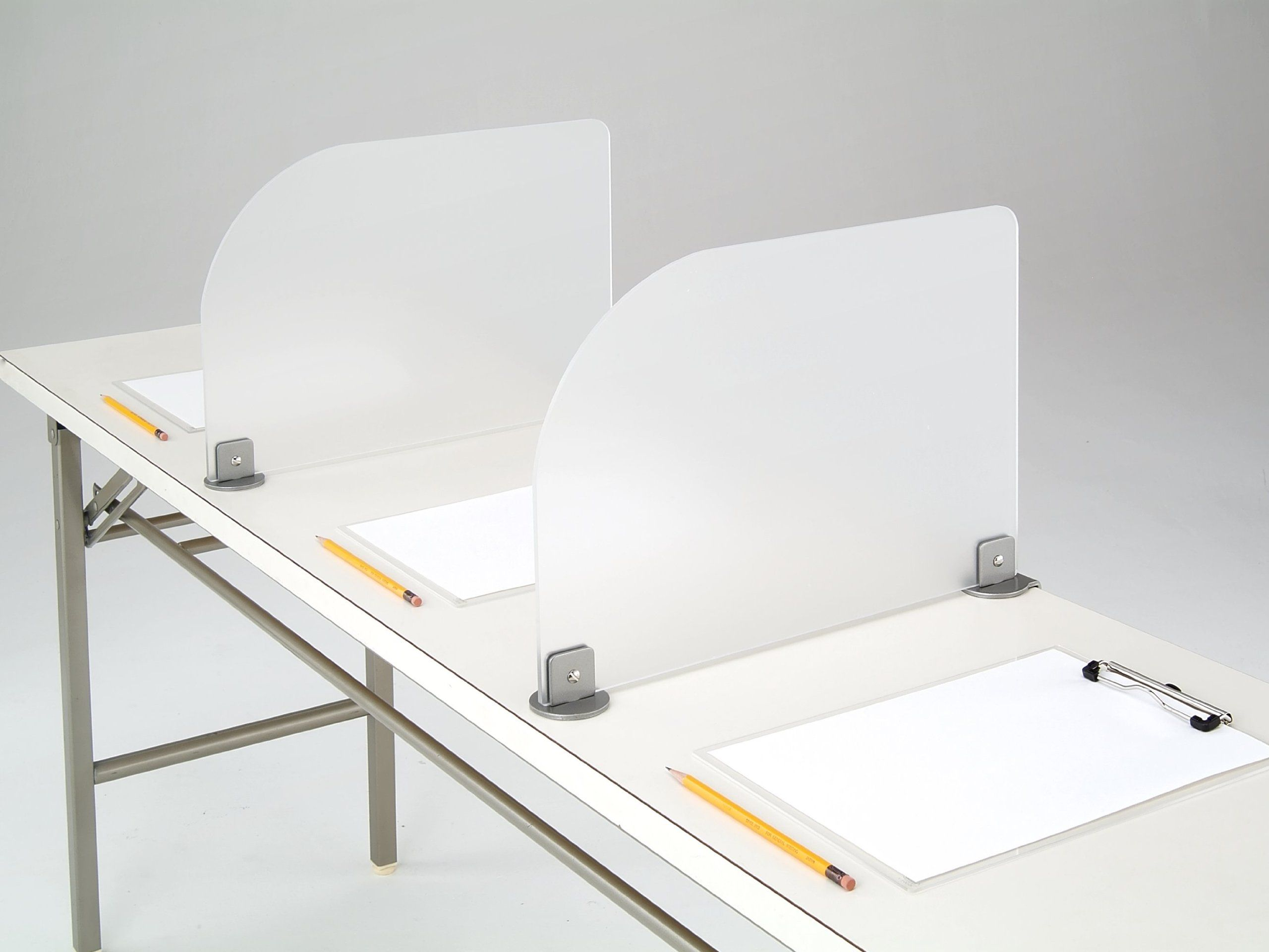 Desk divider clamp on frosted acrylic office for Bureau edf 64