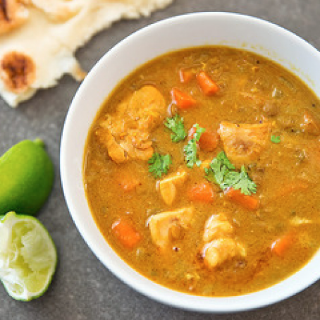 Slow-Cooker Chicken Mulligatawny Soup Recipe