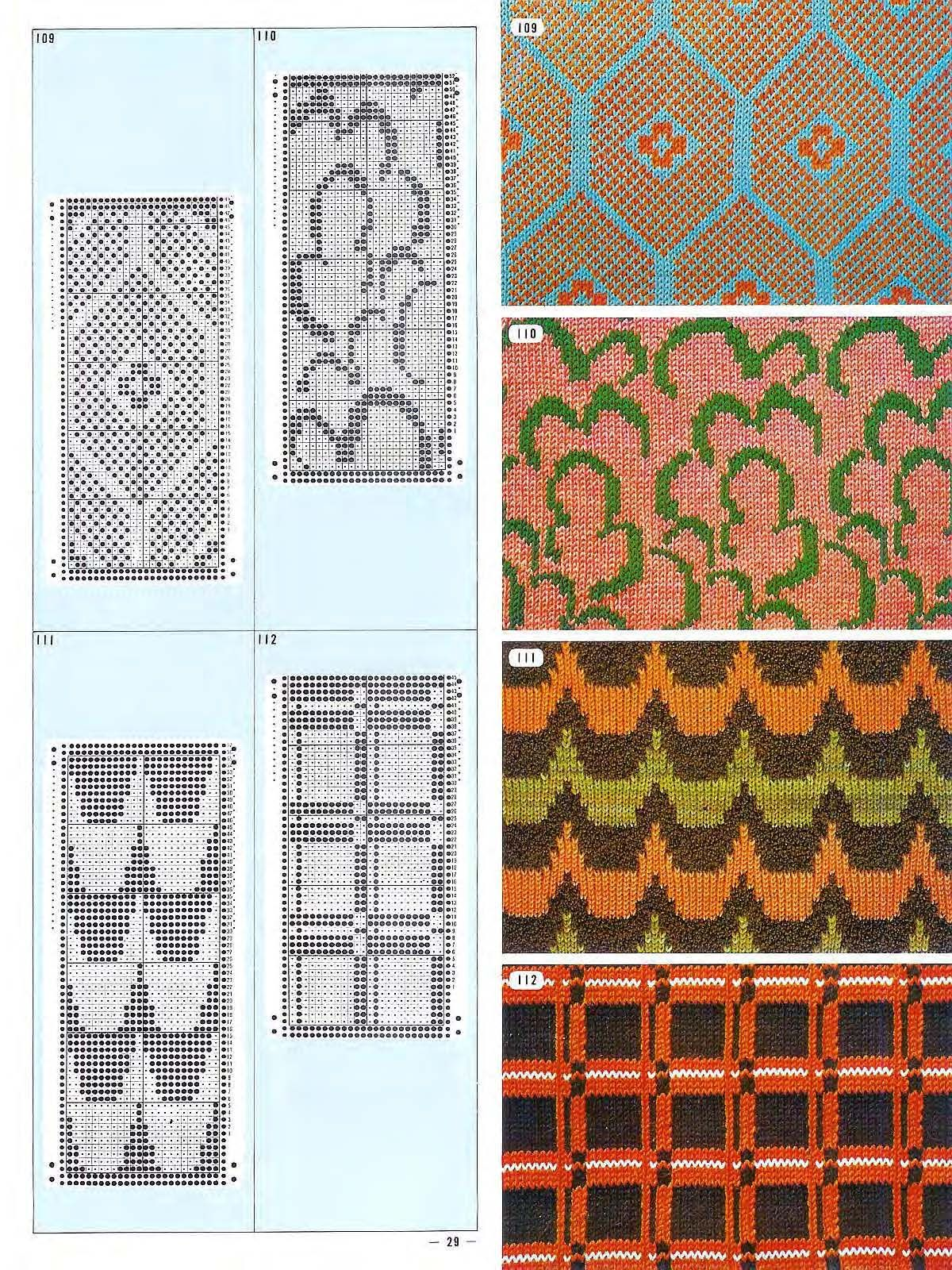 Pattern Library for Punch Card Knitter FAIRISLE   Жаккард ...