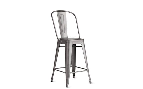 Stupendous Tolix Marais Counter Stool With High Back Project 55 Squirreltailoven Fun Painted Chair Ideas Images Squirreltailovenorg