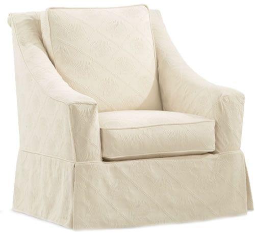 Audrey Slipcovered Swivel Glider Chair