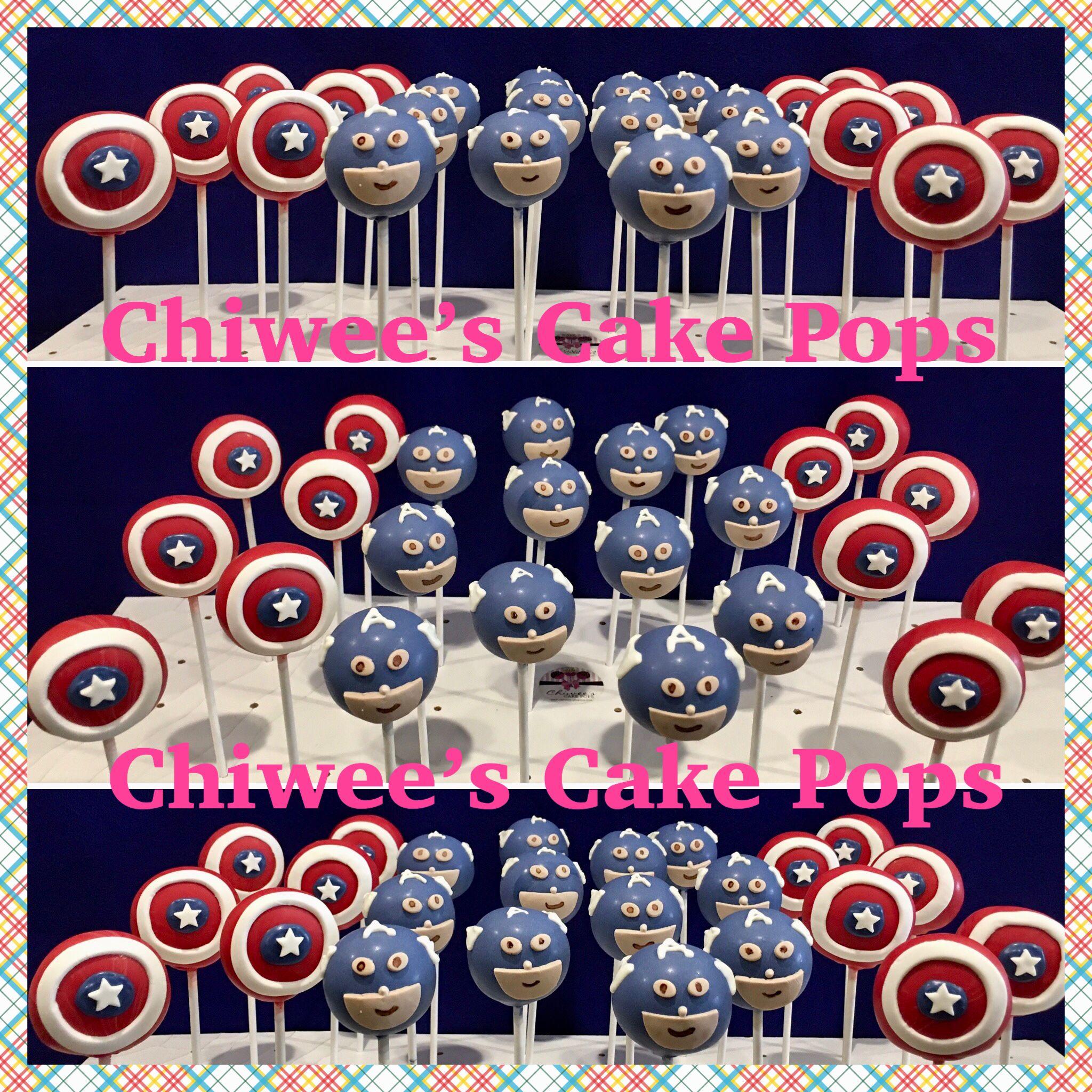 Captain america cake pops captain america cake cake