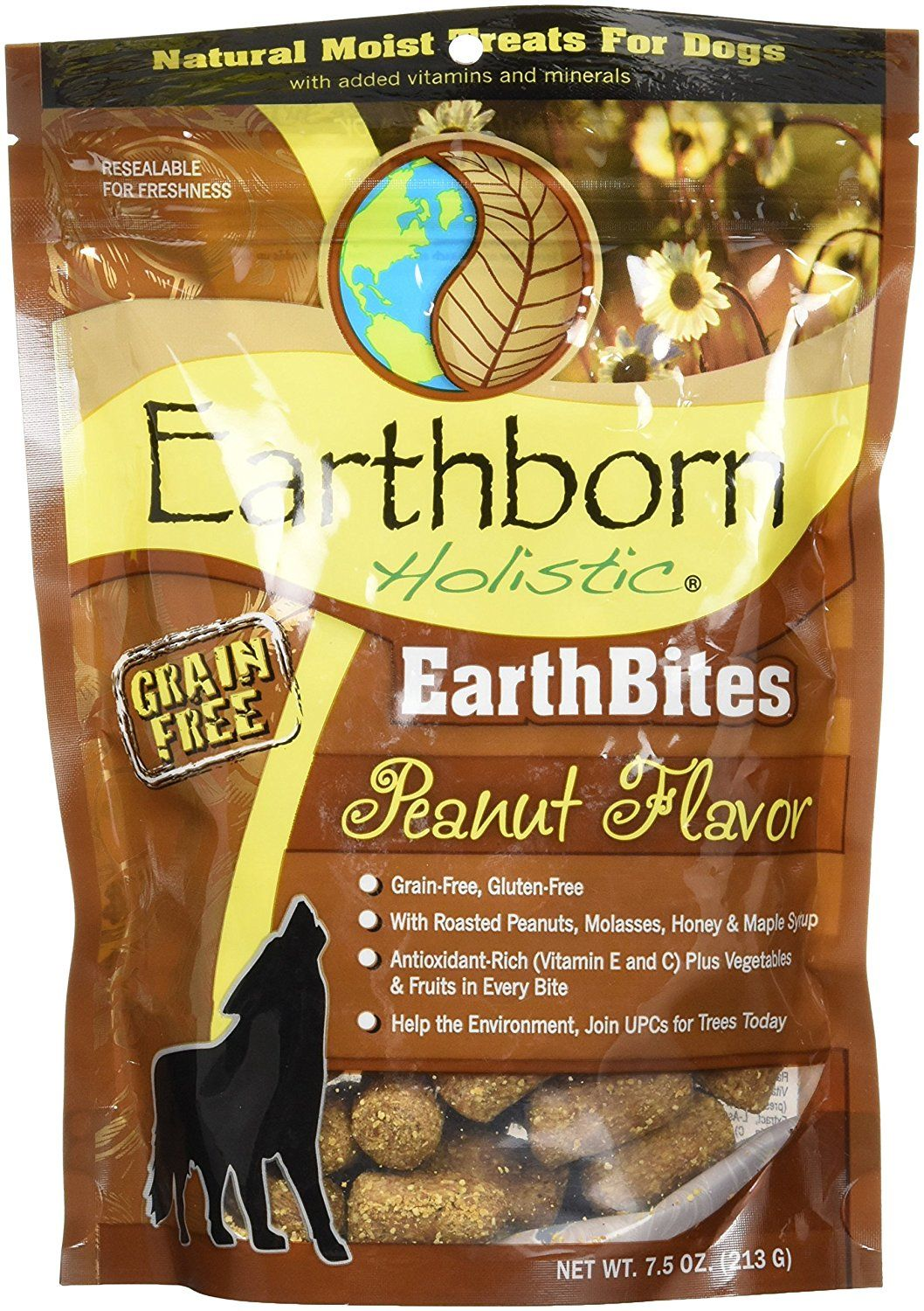 Earthborn Holistic Earthbites Peanut Flavor, 7.5oz